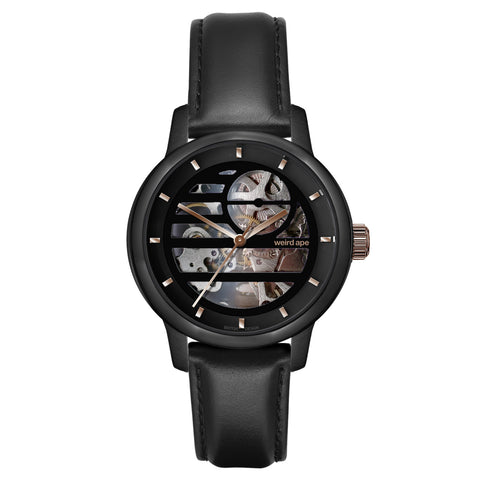 Weird Ape Weird Ape Rosalind - Women's Black skeleton watch with a Black strap