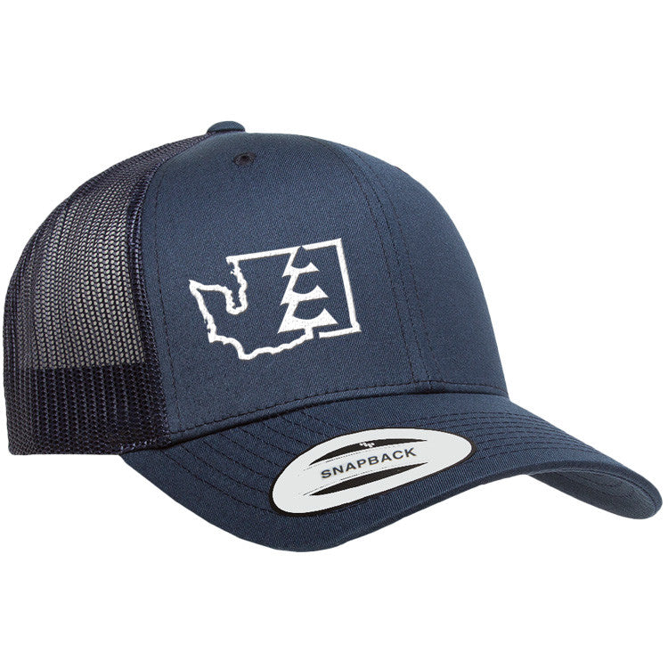 State Tree WA Trucker Hat Navy/Navy