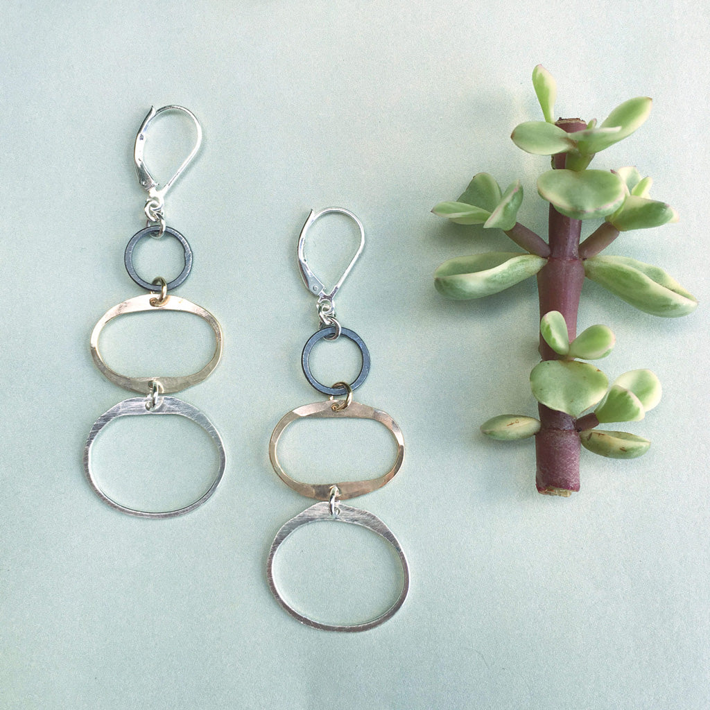 balance earrings - Freshie & Zero | artisan handmade hammered jewelry | handmade in Nashville, TN