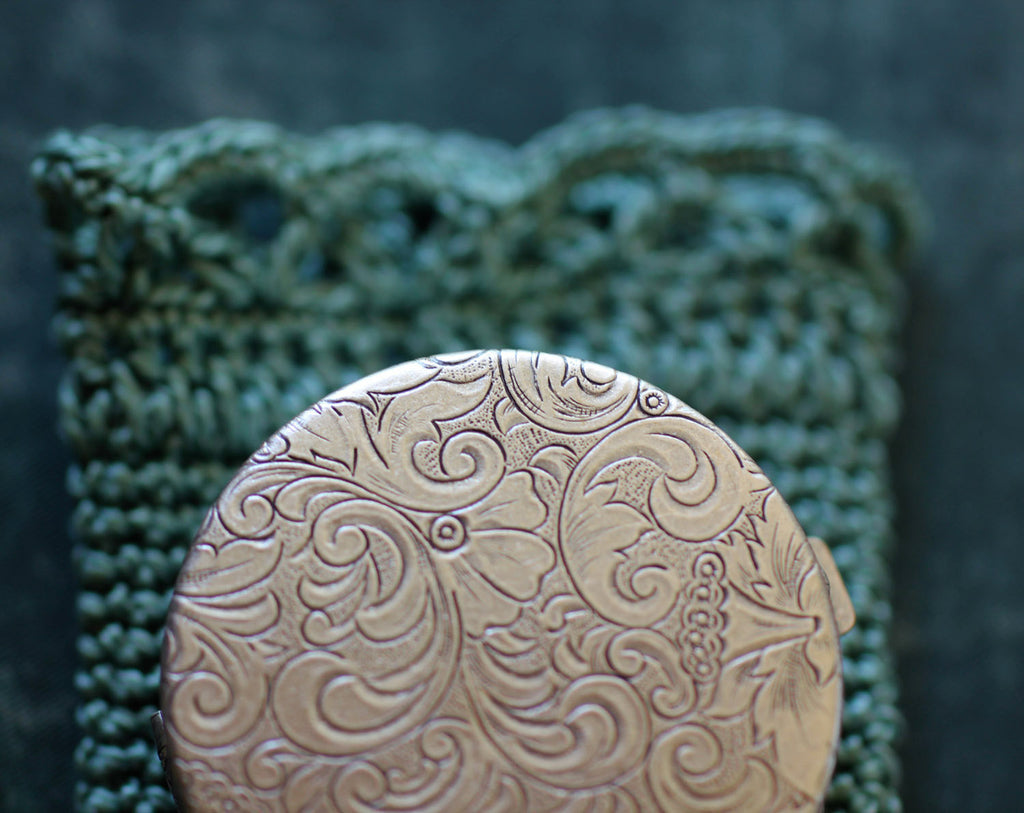 GreenWitch Solid Natural Perfume in Round Compact with Pouch
