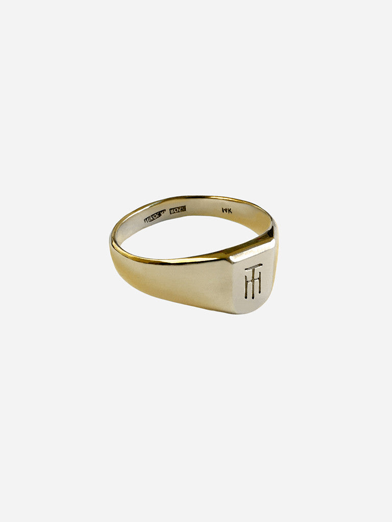 TH Inverted Monogram Ring