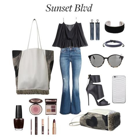 Sunset Blvd featuring The Jenny Tote (Creature B&W)