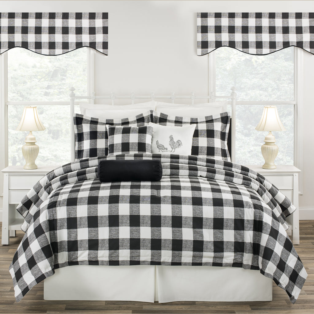Cottage Classic Black Dorm Bedding Set