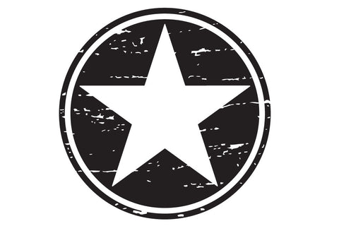 20 inch Reflective Distressed Freedom Star Hood Decal
