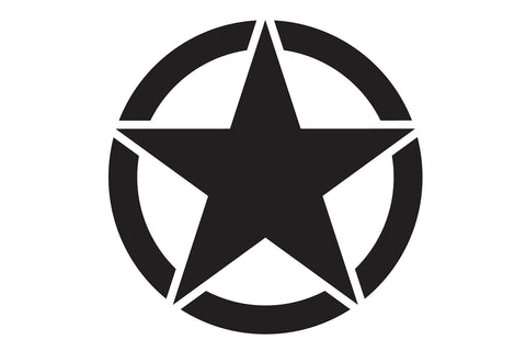 17 inch Reflective Oscar Mike Freedom Star Hood Decal