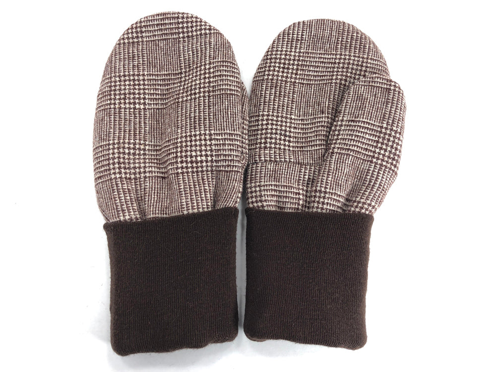 Brown-Tan Men's Wool Mittens - Large - 1783-Mens-The Mitten Company