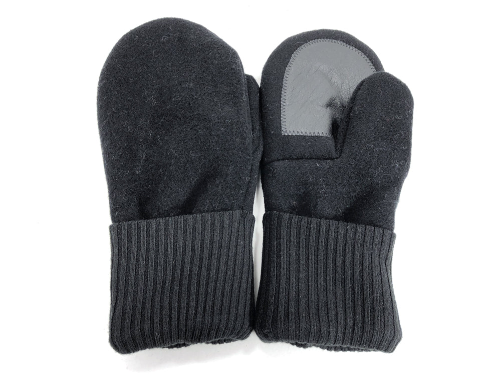 Black Men's Wool Driver's Mittens - Large - 1804-Mens-The Mitten Company