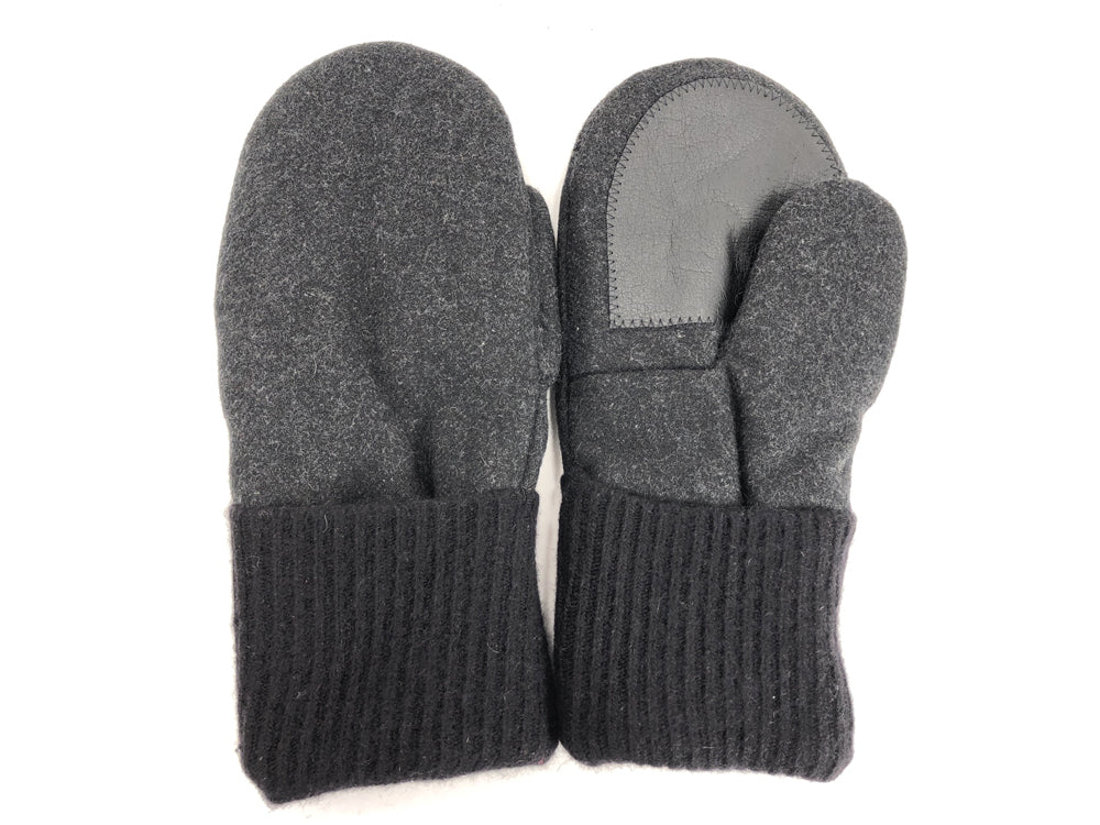 Black Men's Wool Driver's Mittens - Large - 1806-Mens-The Mitten Company