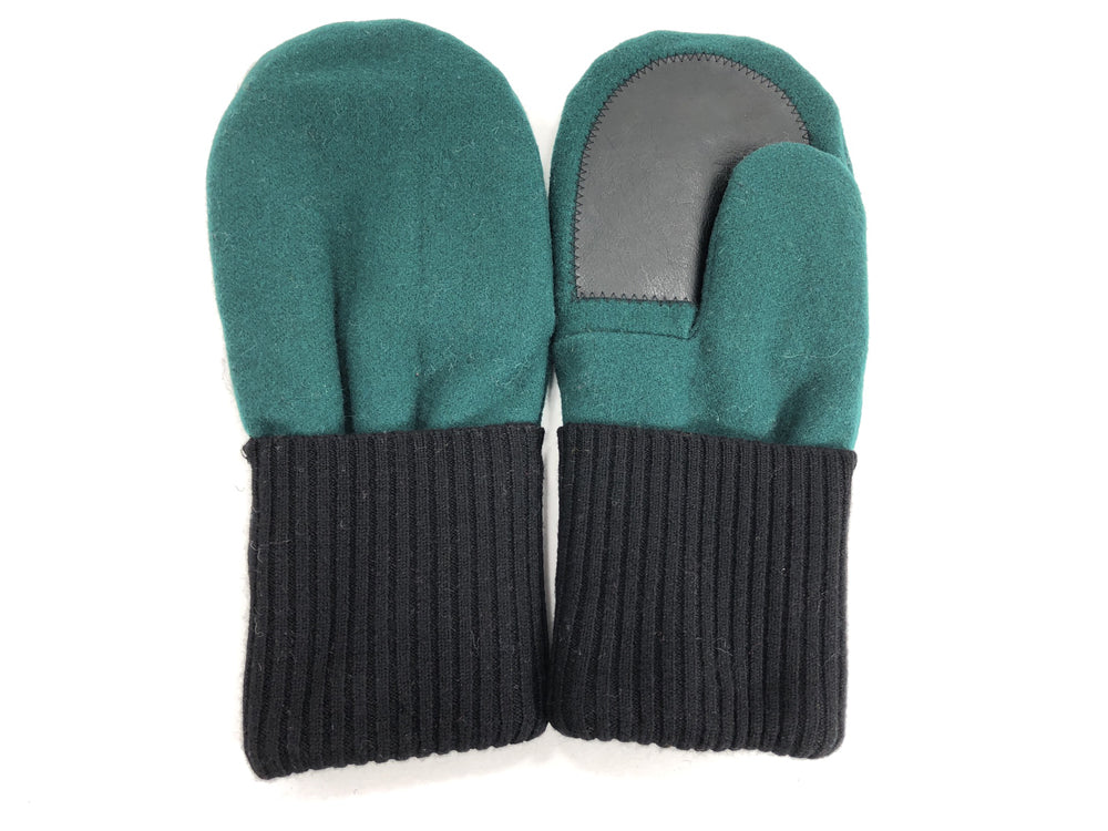 Black-Green Men's Wool Driver's Mittens - Large - 1829-Mens-The Mitten Company
