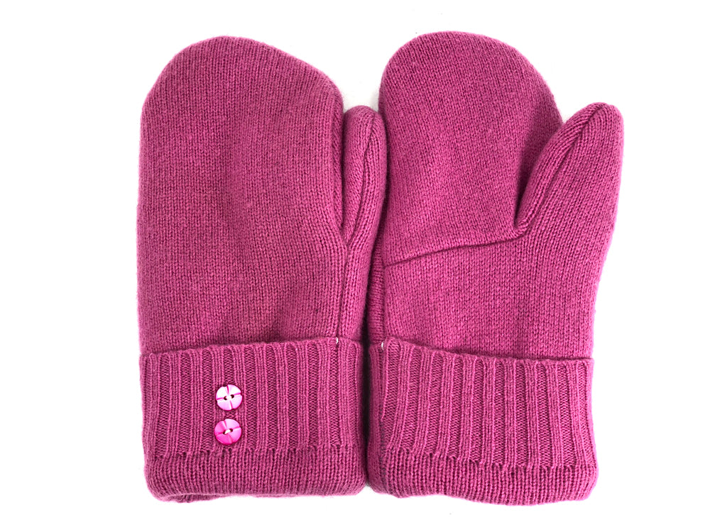 Pink Women's Lambs Wool Mittens - Medium - 2016-Womens-The Mitten Company
