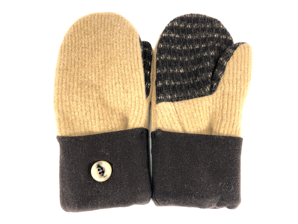 Brown-Tan Shetland Wool Women's Mittens - Medium - 2108-Womens-The Mitten Company