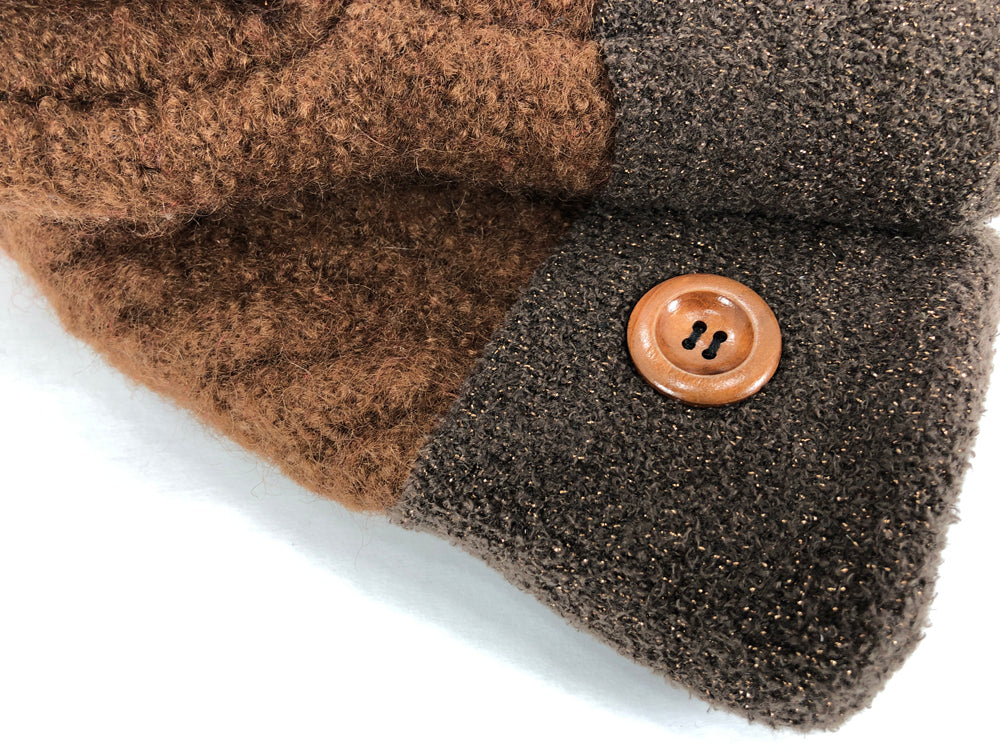 Brown Boiled Wool Women's Mittens - Medium - 2121-Womens-The Mitten Company