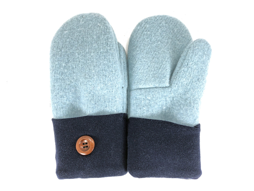 Blue Boiled Wool Women's Mittens - Medium - 2124-Womens-The Mitten Company