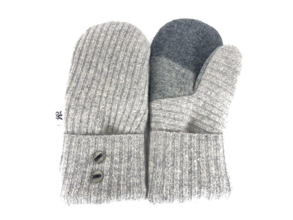Gray Women's Lambs Wool Mittens - Medium - 2190-Womens-The Mitten Company