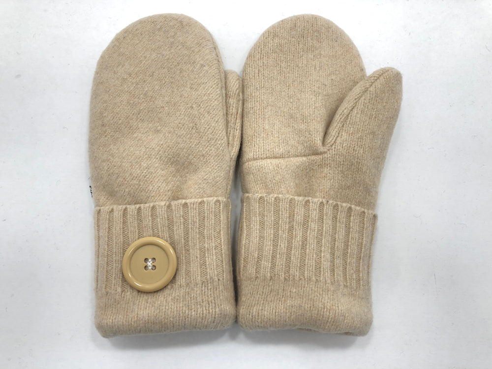 Beige Women's Lambs Wool Mittens - Medium - 2200-Womens-The Mitten Company