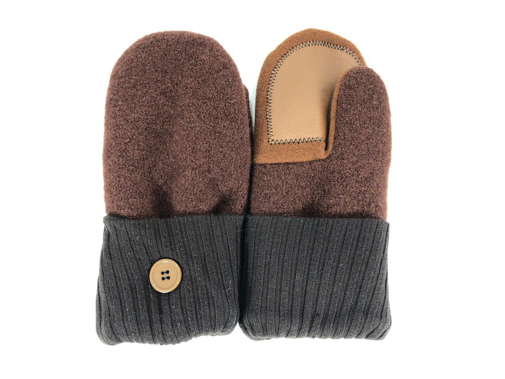 Brown Lambs Wool Women's Drivers Mittens - Medium - 2205-Womens-The Mitten Company