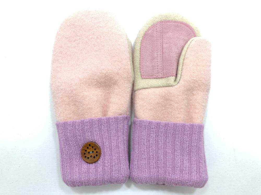 Pink-Purple-White Lambs Wool Women's Drivers Mittens - Medium - 2209-Womens-The Mitten Company