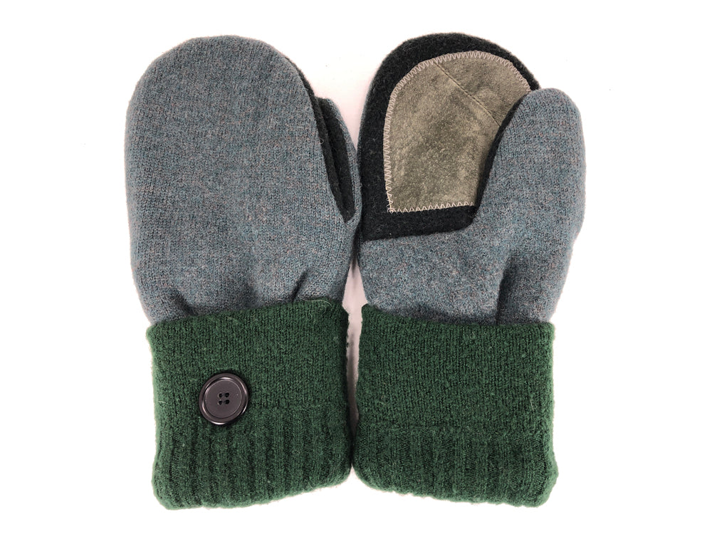 Green-Black Merino Wool Women's Driver's Mittens - Medium - 2219-Womens-The Mitten Company