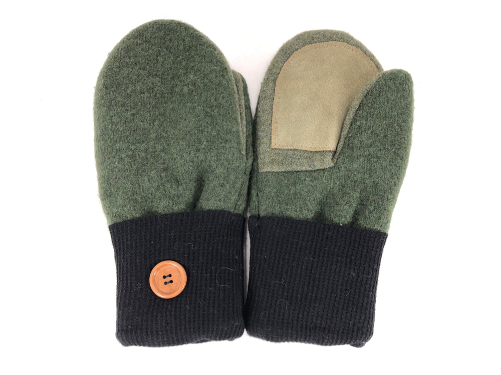 Green-Black Merino Wool Women's Driver's Mittens - Medium - 2220-Womens-The Mitten Company