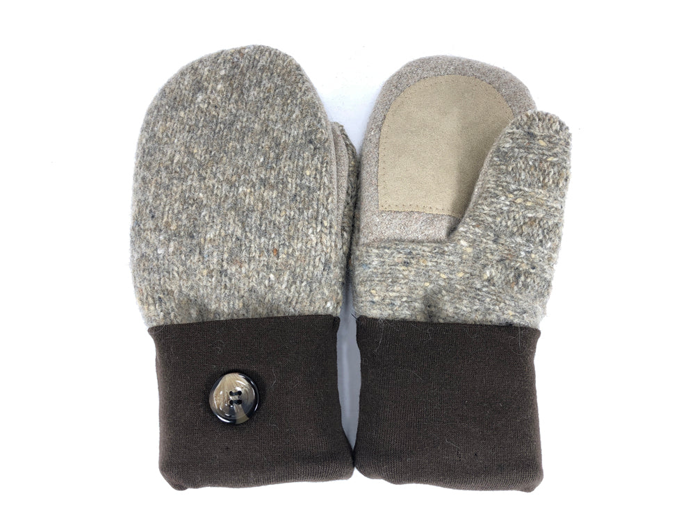 Tan-Brown Lambs Wool Women's Drivers Mittens - Medium - 2233-Womens-The Mitten Company
