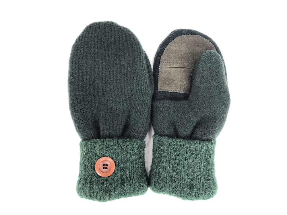 Green Lambs Wool Women's Drivers Mittens - Medium - 2240-Womens-The Mitten Company