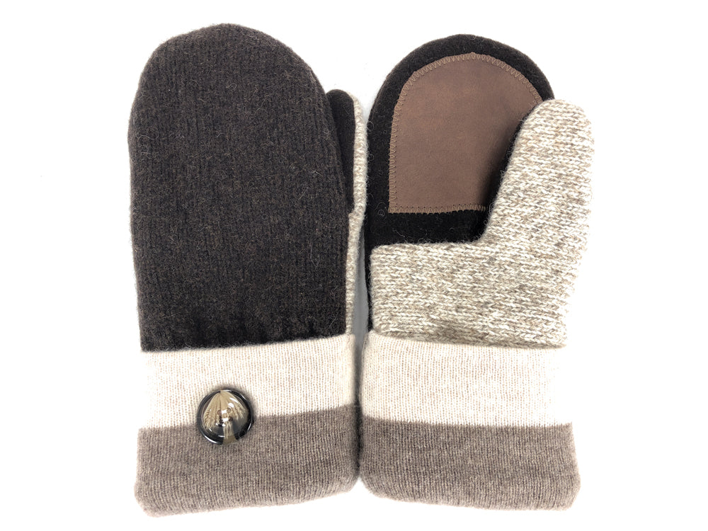 Brown-Tan Shetland Wool Women's Drivers Mittens - Medium - 2277-Womens-The Mitten Company