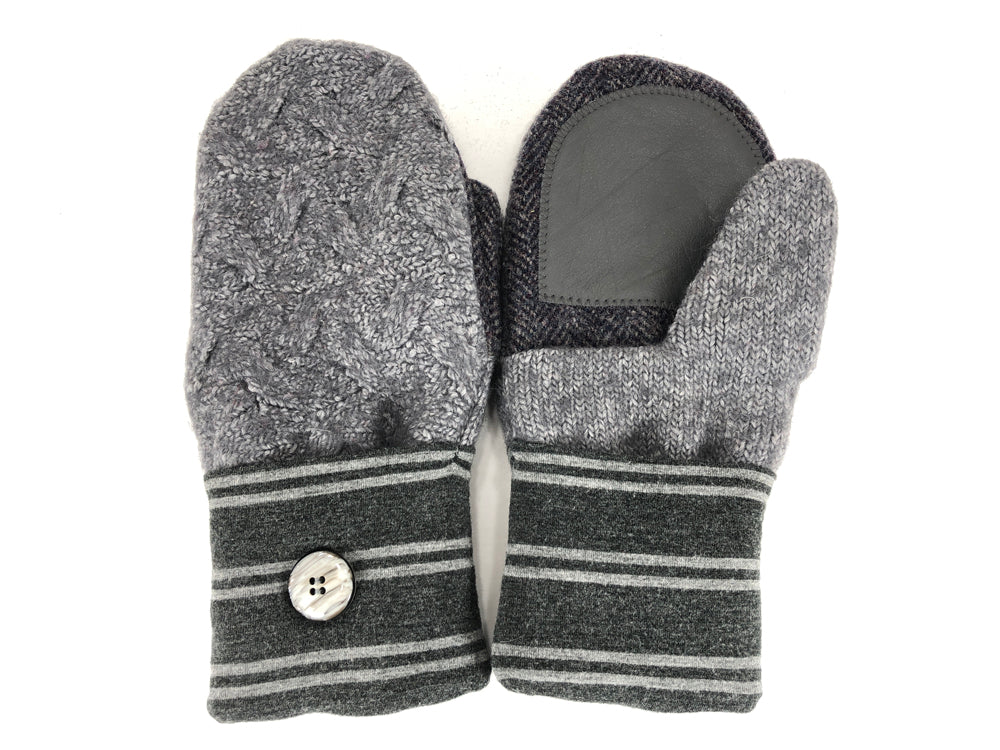 Gray Shetland Wool Women's Drivers Mittens - Medium - 2285-Womens-The Mitten Company
