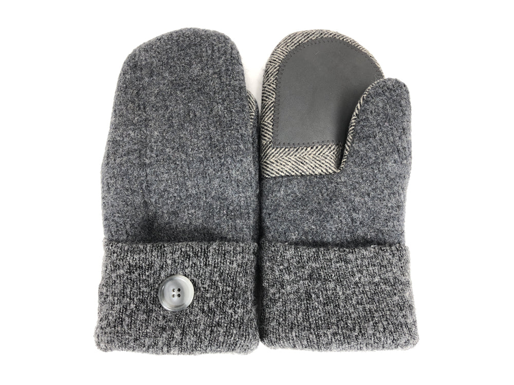 Gray Boiled Wool Women's Drivers Mittens - Large - 2288-Womens-The Mitten Company