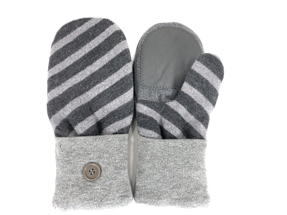 Gray Lambs Wool Women's Drivers Mittens - Large - 2297-Womens-The Mitten Company