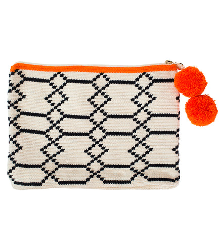 Embroidered Clutch: Figures