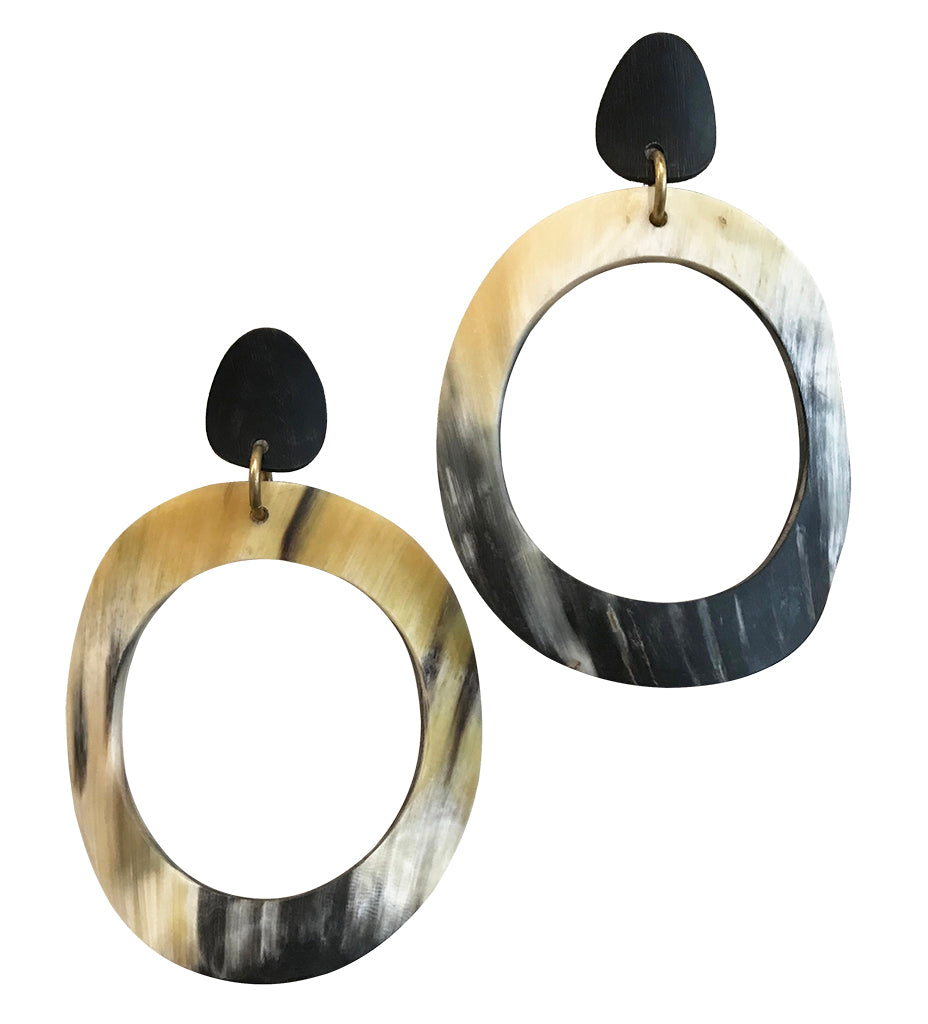 Dramatic Oversized Horn Earring