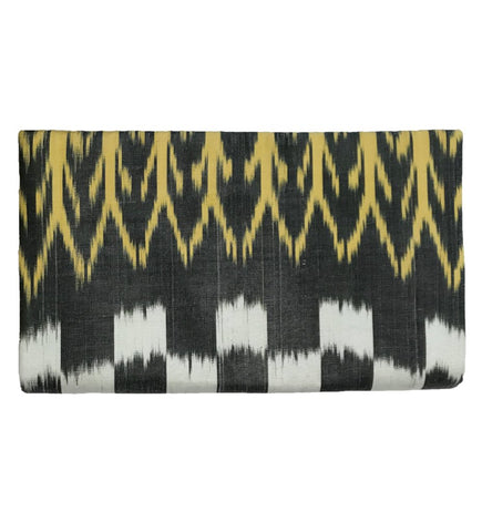 Embroidered Small Clutch: Terracotta and Grey