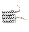 Extra Wide Chevron Warrior Bracelet: White with Black