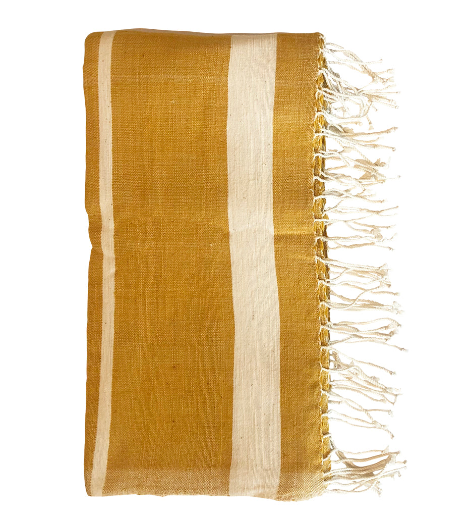 Woven Sun Beach Towel: Gold with Natural