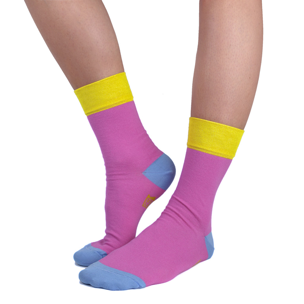 pink dress socks for women