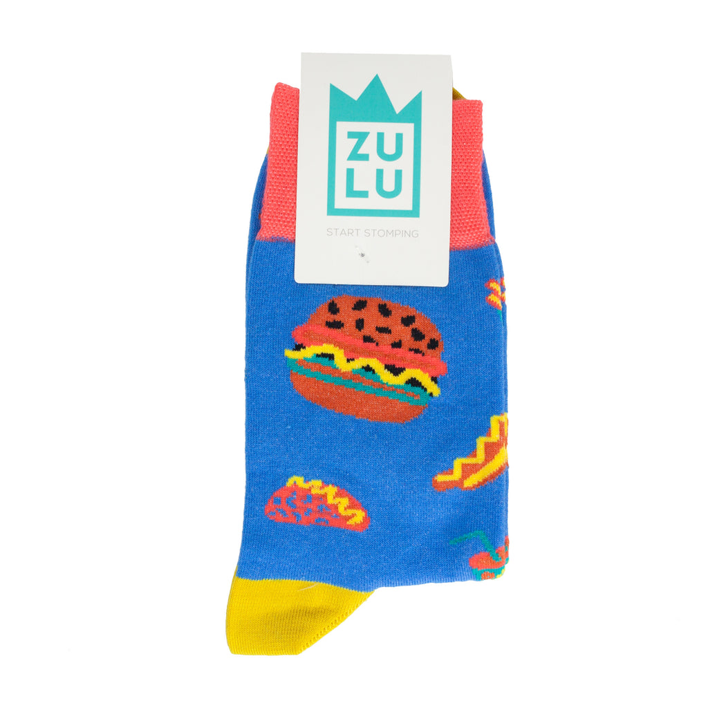 Burger socks for men