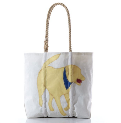 Yellow Lab Sail Cloth Medium Tote