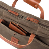 The Courier Briefcase in Field Tan