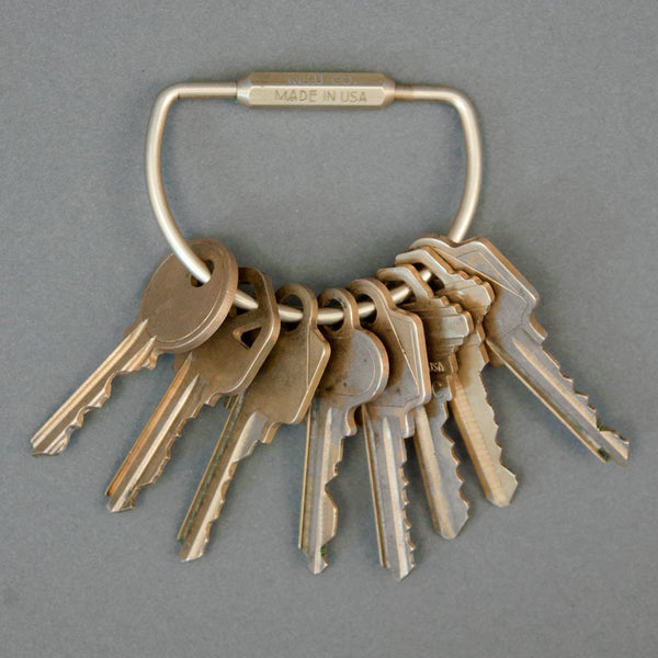 M&U Co. Forkromet Messing nøglering / Chromed Brass Keyring