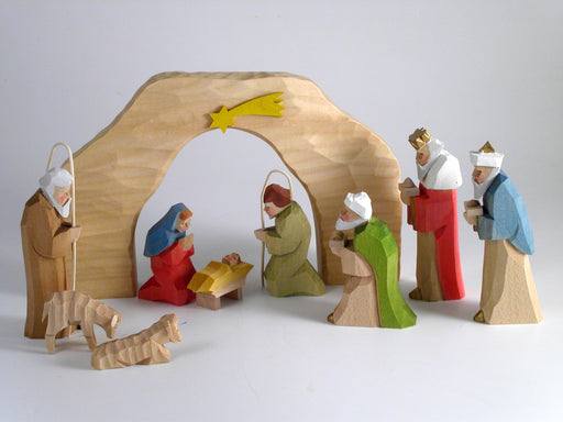 Gingerbread World Christkindlmarkt-online - Bettina Franke Nativity Scene - 9 Figures with Arch