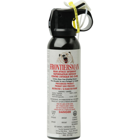 Frontiersman Bear Spray 0.857% with Glow-in-the-Dark Safety Wedge