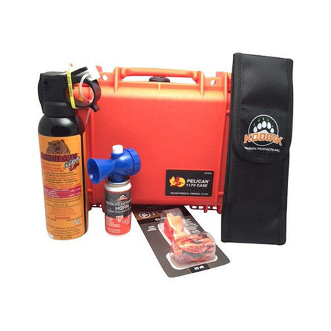 Bear Safety Kit w/ Whistle in Pelican Case - Watertight, Crush-proof, High Impact