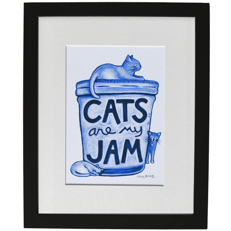 Cats are my Jam Art Print by Xenotees