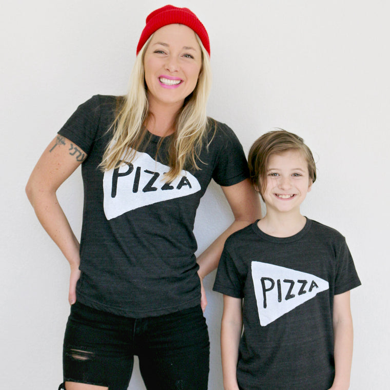 Mommy and Me Matching Pizza Shirts by Xenotees