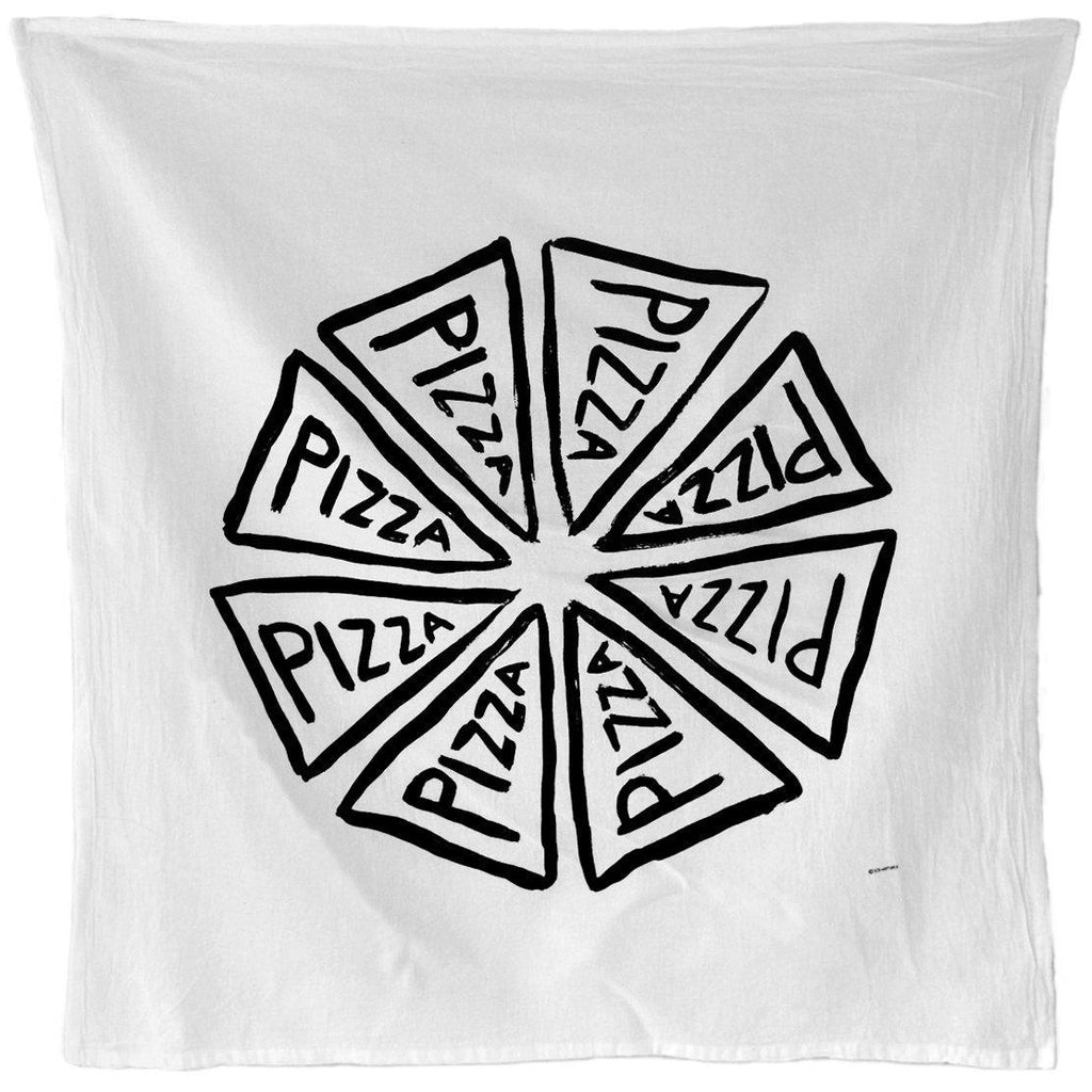 Pizza Party Flour Sack Kitchen Towel by Xenotees