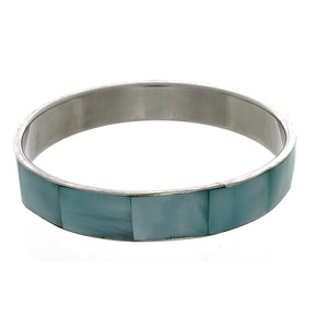 BANGLE SHELL INLAY BRACELET