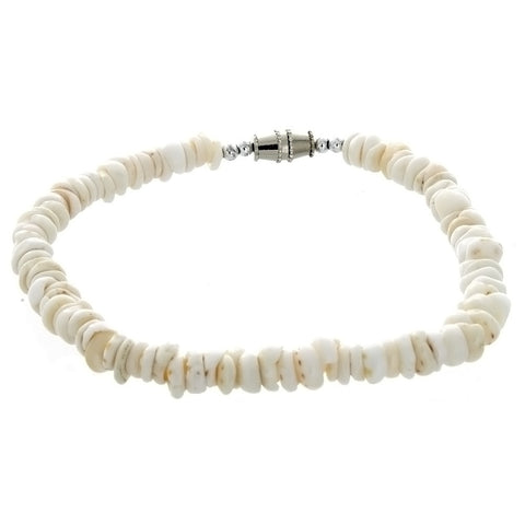 BEADED PUKA SHELL CHIP BRACELET