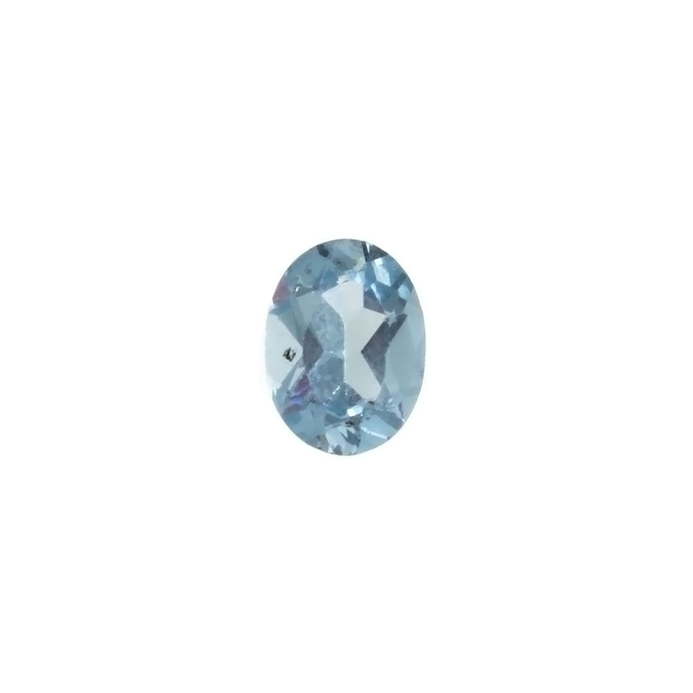 CUBIC ZIRCONIA AQUAMARINE OVAL FACETED GEMS