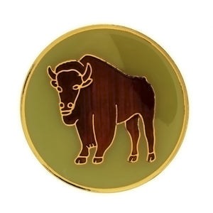 ENAMEL ANIMAL BUFFALO INSERT