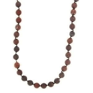 BEADED GEMSTONE BRECCIATED JASPER ROUND NECKLACE